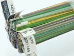 Effetre transparent stringer 20 colours 1 metre of each colour approx. 298 gram