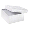 Jewelry Box 9.5cm X 9.5cm X 5cm white textured