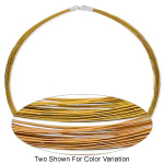 50-Strand Necklace Gold Colored Sterling Silver Clasp