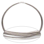 50-Strand Necklace Stainless Steel Sterling Silver Clasp